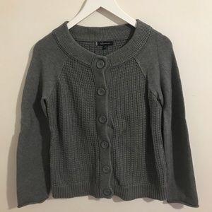 Ak Anne Klein Grey Button down cardigan Size Med